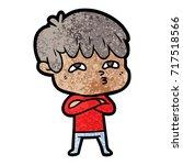 cartoon curious man   Shutterstock .eps vector #717518566