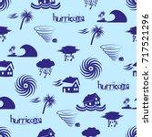 hurricane natural disaster...   Shutterstock .eps vector #717521296