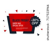 black friday sale label. stock... | Shutterstock .eps vector #717523966