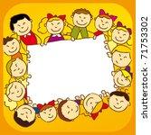 kids holding a sign | Shutterstock .eps vector #71753302