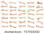 multiple images set of female... | Shutterstock . vector #717533332