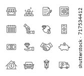 pawnbroker  pawn shop icons set ... | Shutterstock .eps vector #717534412