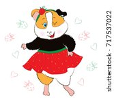 guinea pig in the way of... | Shutterstock .eps vector #717537022