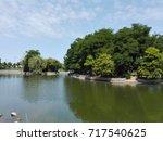 lake landscape islands...   Shutterstock . vector #717540625
