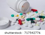 various medications and... | Shutterstock . vector #717542776