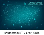 vector map   abstract mash... | Shutterstock .eps vector #717547306