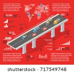 red illustration infographics... | Shutterstock .eps vector #717549748