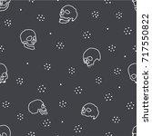 liniar skulls | Shutterstock .eps vector #717550822
