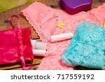 close up of a a menstruation...   Shutterstock . vector #717559192