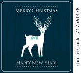 new year and christmas card... | Shutterstock .eps vector #717561478