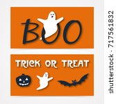 website spooky header or banner ... | Shutterstock .eps vector #717561832