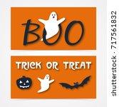 website spooky header or banner ... | Shutterstock .eps vector #717561832