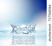 water splash in dark blue color ... | Shutterstock . vector #717568366