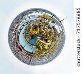 360 degree sphere. panorama of... | Shutterstock . vector #717576685