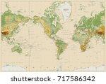 america centered physical world ... | Shutterstock .eps vector #717586342