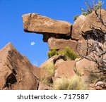Nature's forces have sculpted a rugged stone into art - stock photo