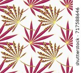 bright exotic leaves. seamless... | Shutterstock .eps vector #717588646