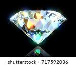 extremely shiny diamond... | Shutterstock . vector #717592036