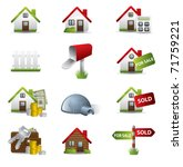 real estate business icon set | Shutterstock .eps vector #71759221