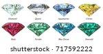eight various round cut  jewels ...   Shutterstock . vector #717592222