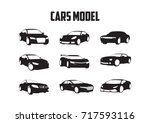 set cars | Shutterstock .eps vector #717593116