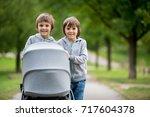 Two Children  Boys  Pushing...