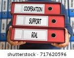cooperation  support  goal ...   Shutterstock . vector #717620596