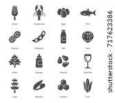 allergens icons   Shutterstock .eps vector #717623386