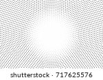 black white dotted halftone... | Shutterstock .eps vector #717625576