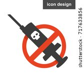 stop drugs icon | Shutterstock .eps vector #717633856