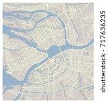 st. petersburg map | Shutterstock .eps vector #717636235