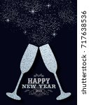 happy new year 2018 luxury... | Shutterstock .eps vector #717638536