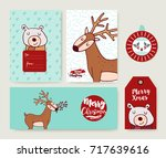 merry christmas hand drawn... | Shutterstock .eps vector #717639616