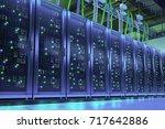 data processing center. server... | Shutterstock . vector #717642886
