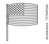 flag united states of america... | Shutterstock .eps vector #717644266