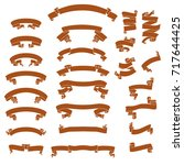 curved ribbons vector... | Shutterstock .eps vector #717644425
