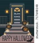 happy halloween vector... | Shutterstock .eps vector #717648148