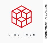 cube logical line vector icon | Shutterstock .eps vector #717648628