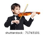 Little Handsome Boy Playing Th...