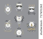 big vector collection with ... | Shutterstock .eps vector #717651262