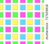 flat line square pattern vector  | Shutterstock .eps vector #717653818