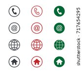 set of contact detail icon... | Shutterstock .eps vector #717654295