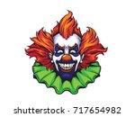 evil clown halloween... | Shutterstock .eps vector #717654982