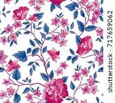 floral pattern. flower seamless ... | Shutterstock .eps vector #717659062