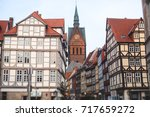 Stock photo beautiful summer view of hannover old town germany lower saxony 717659272