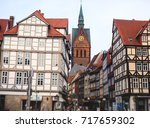 Stock photo beautiful summer view of hannover old town germany lower saxony 717659302