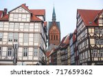 Stock photo beautiful summer view of hannover old town germany lower saxony 717659362
