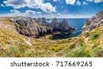 panorama of pointe du pen hir... | Shutterstock . vector #717669265