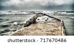 panoramic view of guanabo beach ... | Shutterstock . vector #717670486