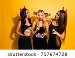trick or treat  or death ... | Shutterstock . vector #717674728